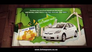 Go Green Sale at 2 Cheap Cars! Get a Free $100 fuel voucher!
