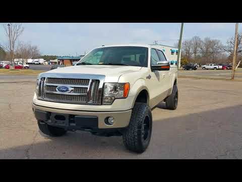 Lifted 2009 Ford F -150 King Ranch. Fuel Wheels. Nitto Tires.