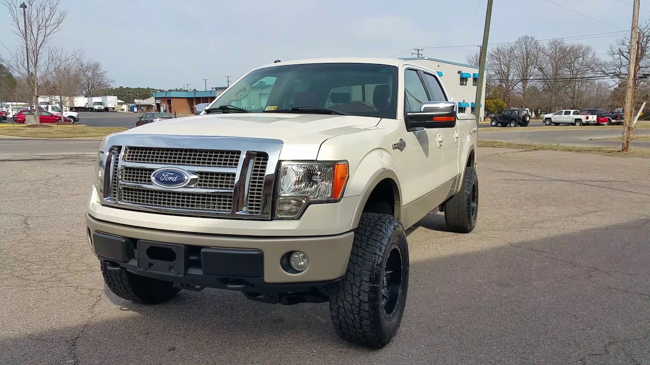 Lifted 2009 Ford F 150 King Ranch Fuel Wheels Nitto