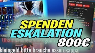 DIESE ANDERE SPENDEN ESKALATION😨| 800€ in 2 STREAMS | CryCon