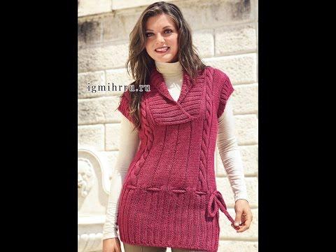 женская безрукавка вязание спицами модели 2019 Womens Vest
