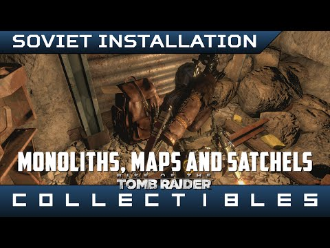 Rise Of The Tomb Raider Soviet Installation Monoliths Maps And Explorer Satchels Location Guide Youtube