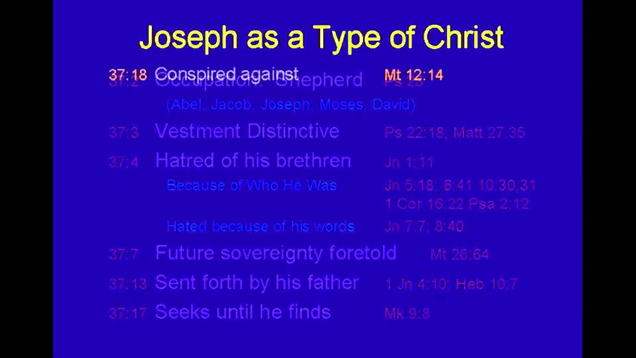 Joseph As A Type Of Christ Chuck Missler Youtube
