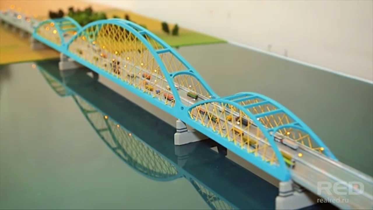 Арочный мост через реку Иртыш | Макетная мастерская студии RED