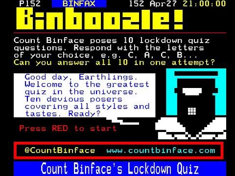 BINBOOZLE! Lockdown Quiz