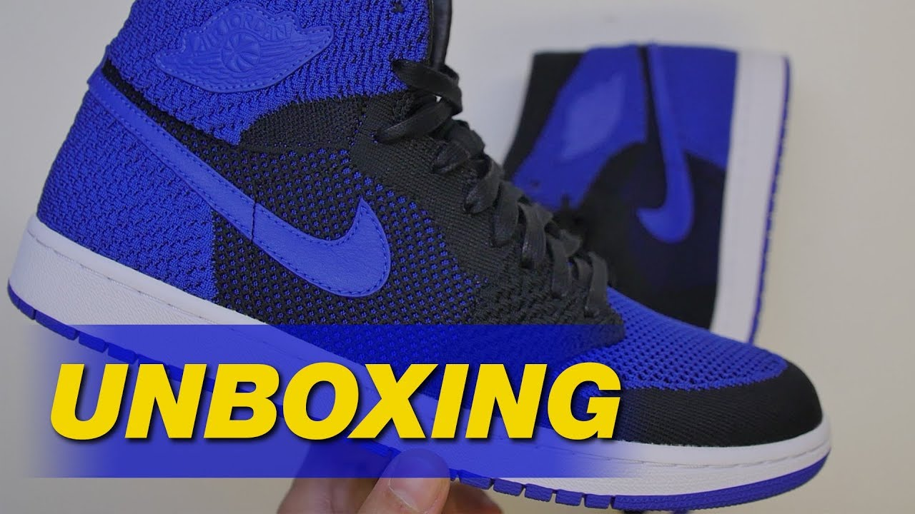6a90d1db620 Air Jordan 1 Flyknit Royal Unboxing | Sole Collector