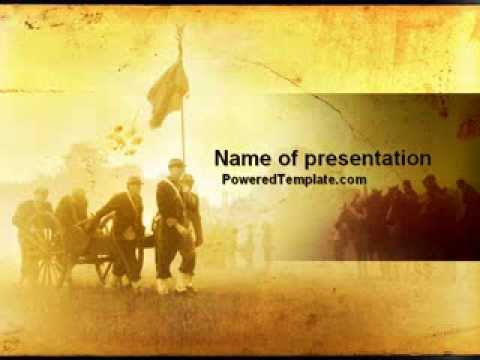 american civil war powerpoint templatepoweredtemplate, Powerpoint templates