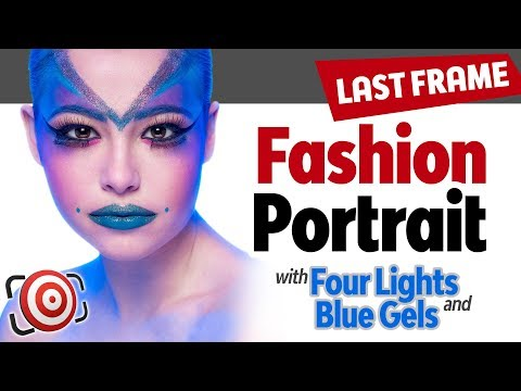 Sci-Fi Inspired Four Light Fashion Portrait Tutorial - Fashion Photography Lighting Tutorial