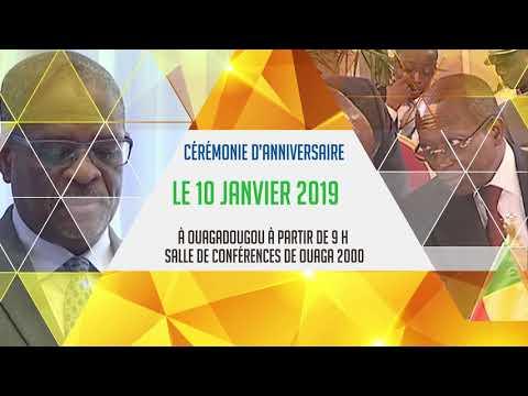 10 janvier 2018 : Cérémonie d'anniversaire des 25 ans de l'UEMOA