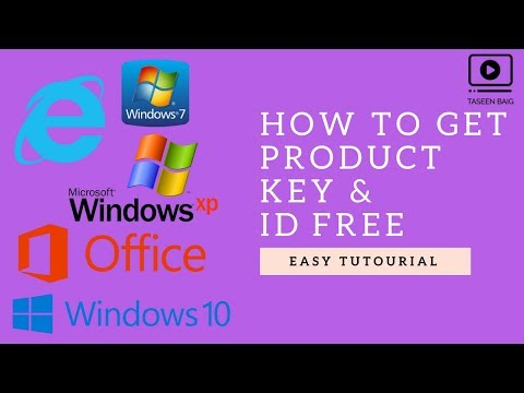 How To Get Product Key & ID Win Xp,10,8,7 Tutorial