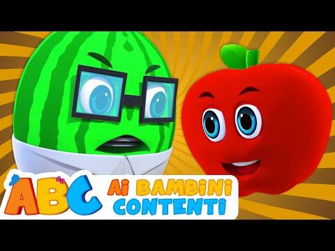 ABC Italian | Cinque Frutti Divertenti | Imparare i Numeri per i Bambini | Filastracche Italiano