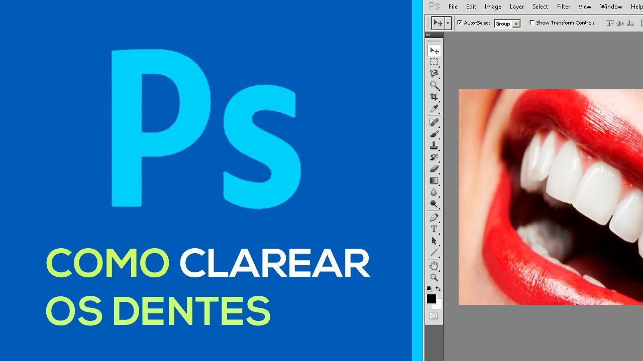 Como Clarear Os Dentes Photoshop Basico 04 Youtube