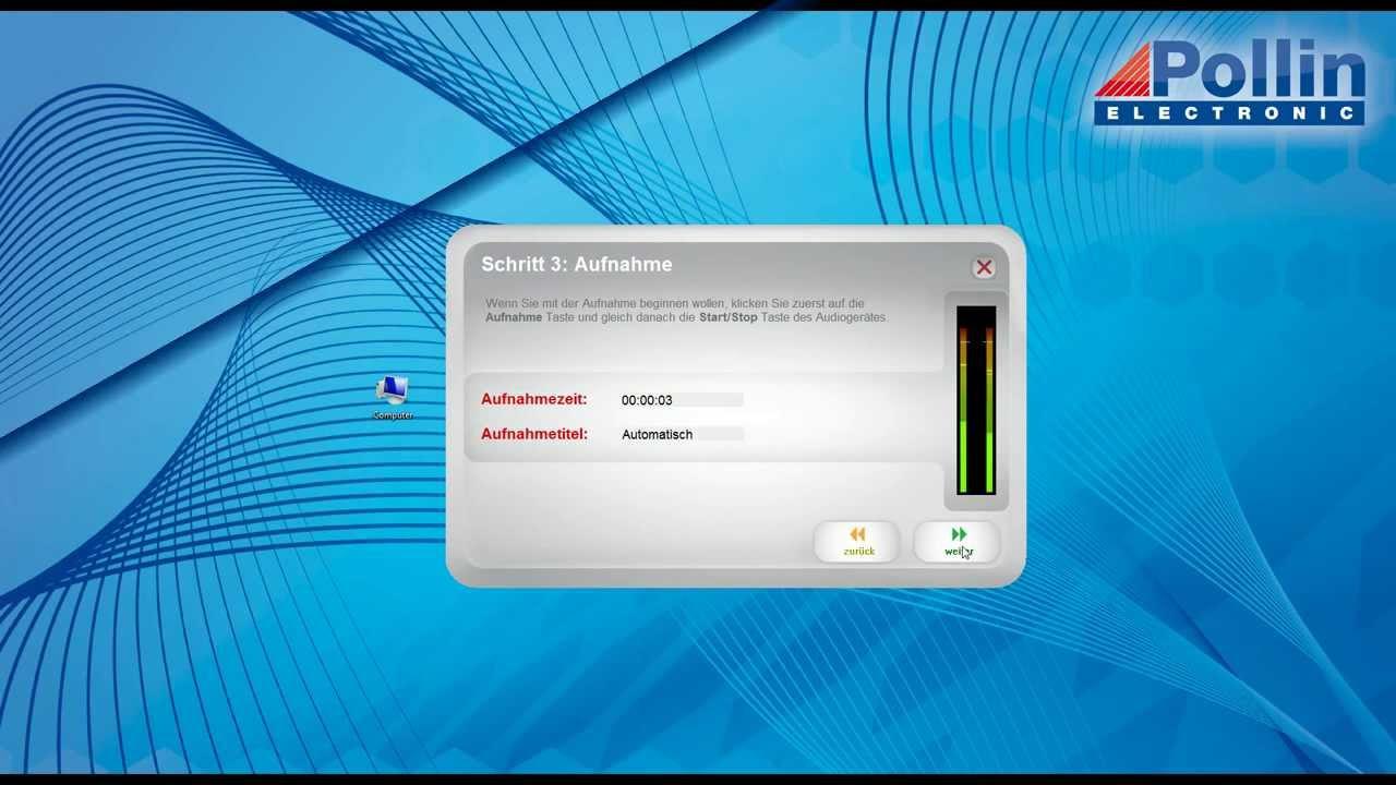 Einrichtungssoftware  Quick-Start Einrichtung: Software EZ Vinyl / Tape Converter ...