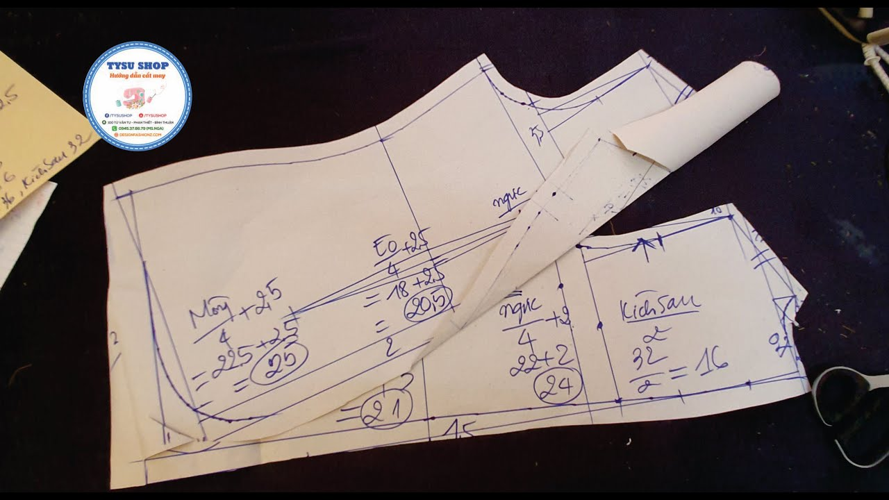 Cách Cắt Áo Giả Vest Nữ Bâu Danton | Ở Nhà Cắt May Cùng TYSUSHOP