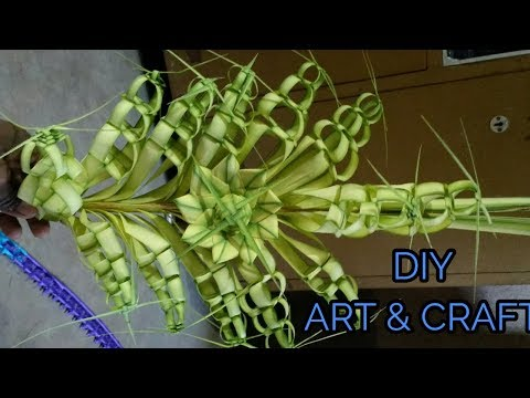 Craft Work By Date Palm Leaf / कैसे बनाया जाए खजूर पत्ते से बने फूल