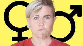 Gender Makeup Transformation! || Hannah Hart