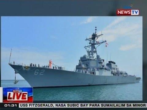 NTVL: US Navy destroyer na USS Fitzgerald, nasa Subic Bay para sumailalim sa minor repair