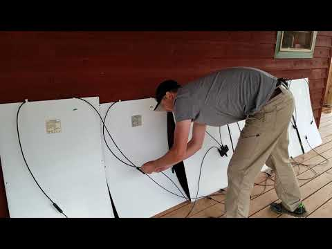 How to hook up Solar Panels with battery bank simple detailed instructions DIY solar system from YouTube · Duration:  3 minutes 31 seconds