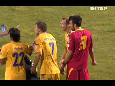 """Ukrainian soccer player """"killed"""" the player from Montenegro"""