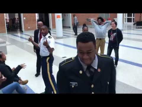 Dr. Willie Jolley Visits The JROTC Students at Roosevelt Senior High School