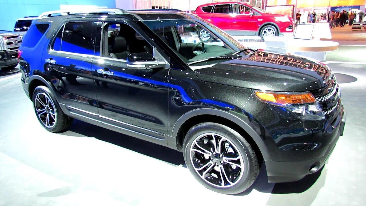 2013 ford explorer sport ecoboost 4wd exterior and interior walkaround 2012 la auto show youtube - Ford Explorer 2012 Black