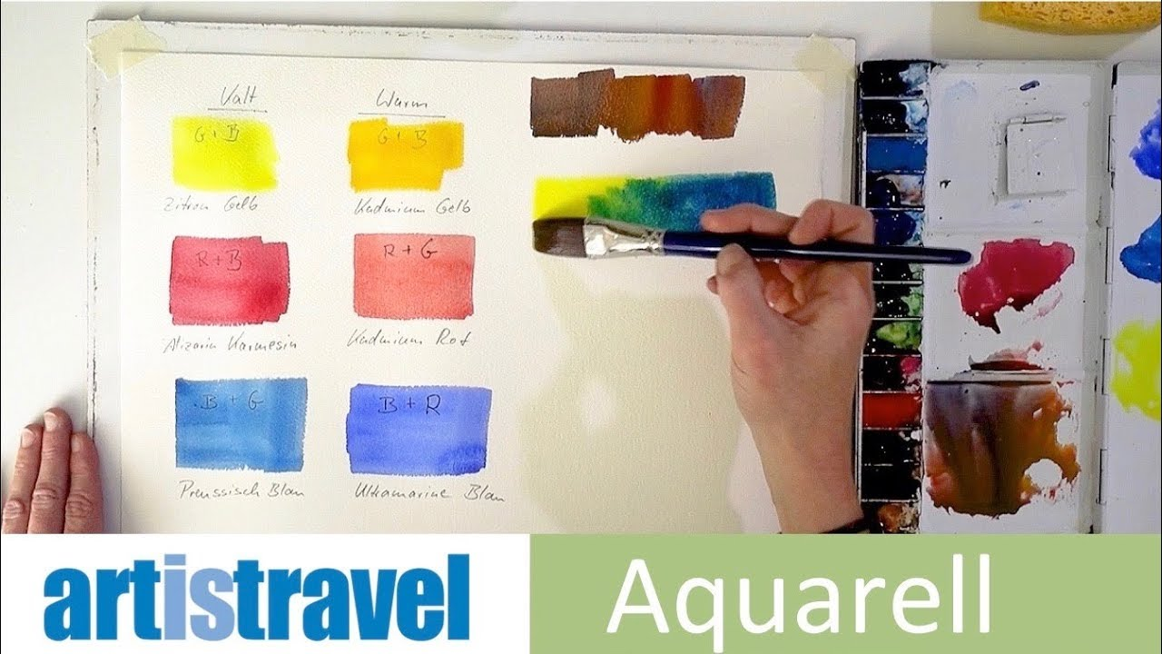 Aquarellfarben Richtig Mischen Ganz Einfach Aquarellieren Lernen