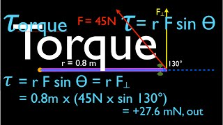 Physics, Torque (1 of 12) An Explanation
