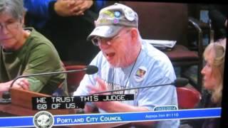 Lone Vet Joe Walsh on Portland City hall