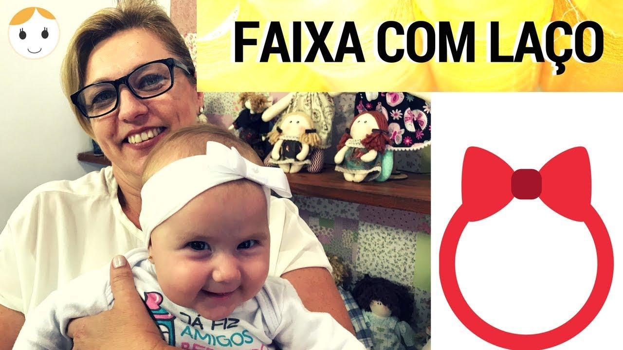 COMO FAZER FAIXA - TIARA PARA BEBÊ COM MEIA FINA DE SEDA DRICA TV ... b2c48b9267