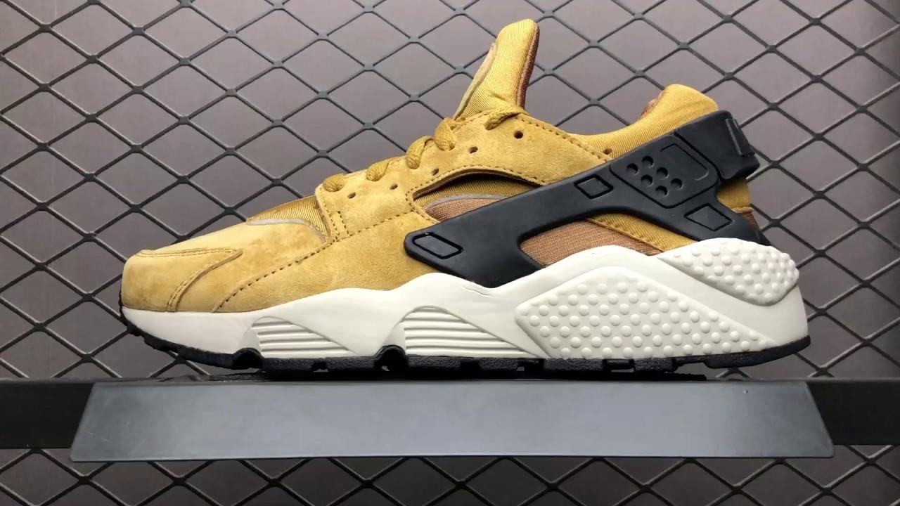 brand new 9d549 aa0fc 42 Nike Air Huarache Run PRM 704830-700 Wheat Mens 40-44 us7-us10