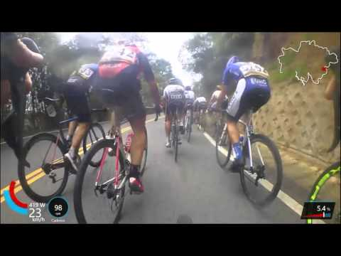 Tour of Taiwan - stge 4 bike cam with commentary analysis
