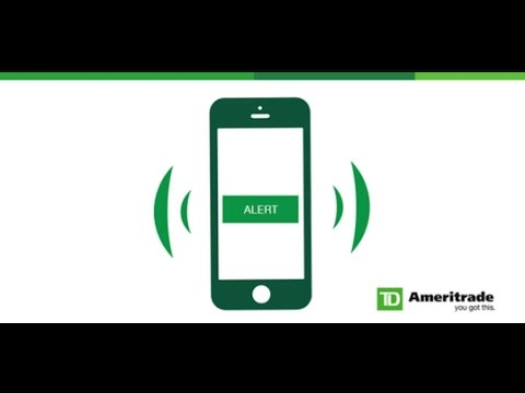 How to set stock alerts W/ Td ameritrade (5 mins)