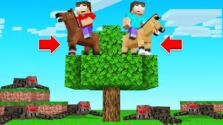 Minecraft BUT You Are ALWAYS Riding A HORSE!