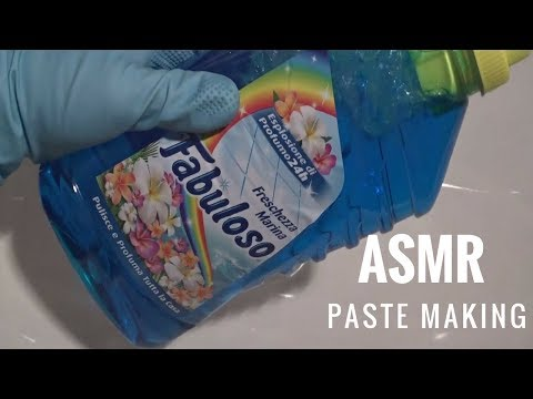 ASMR Paste Making With Blue Fabuloso/Più Clor/Più Crema/Svelto
