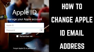 how to Change Apple id Email Address on iPhone