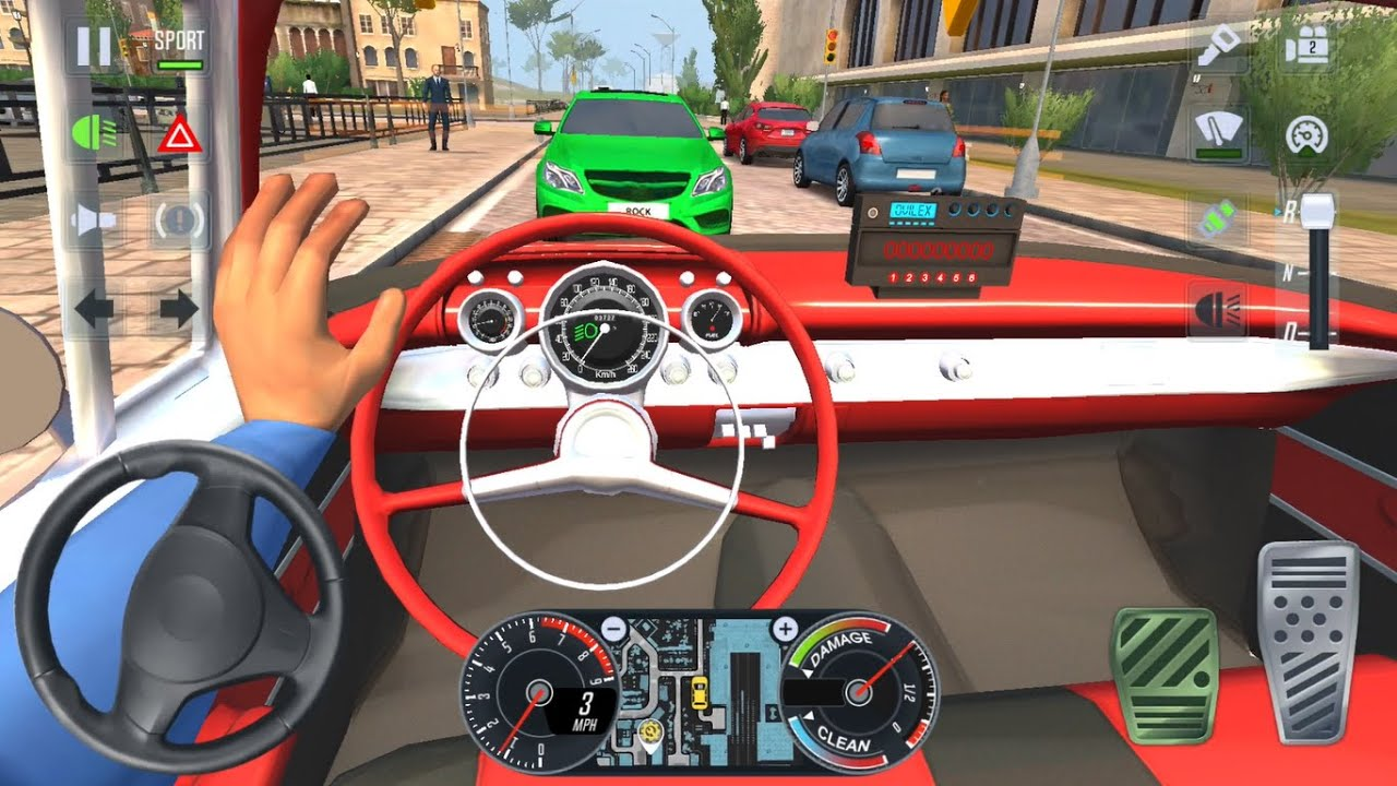 CLASSIC CARS CAB DRIVER 🚖💃  Car Games 3D Drive - Taxi Sim 2020 Android iOS Gameplay
