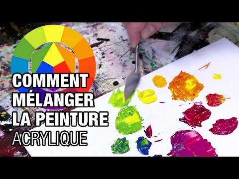 comment faire des m langes en peinture acrylique youtube. Black Bedroom Furniture Sets. Home Design Ideas