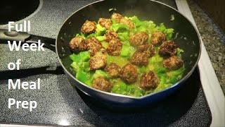 Full Week of Meal Prep: Pad Thai and Hawaiian Meatballs