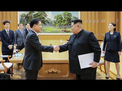 Kim Jong-un meets South Korean delegation