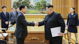 Download Video Kim Jong-un meets South Korean delegation MP3 3GP MP4