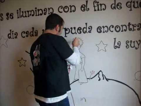 Video mural pintado infantil principito youtube for Avisos de ocasion el mural