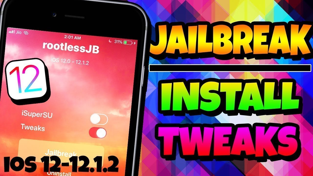NEW How To JAILBREAK iOS 12-12 1 2 & Install Insidious TWEAK INSTALLER iOS  12 No PC iPhone iPad iPod