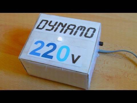 Dynamo 220 Onduleur Secteur 224 Manivelle Youtube
