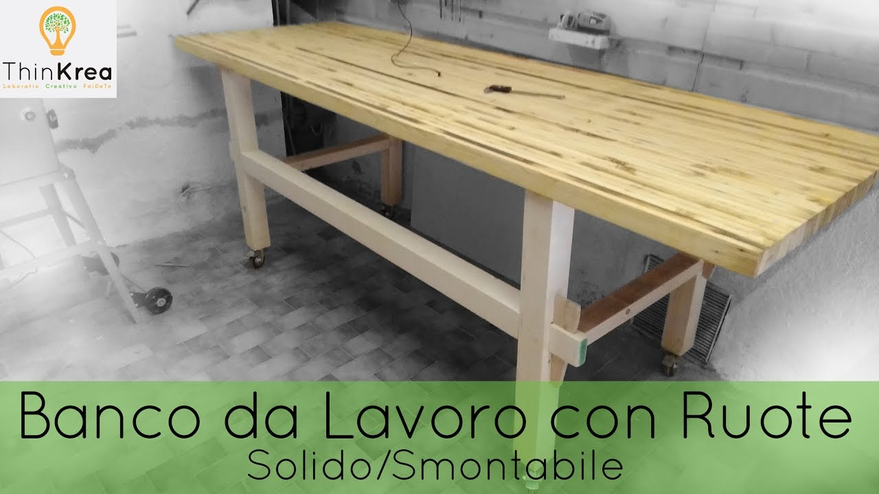 Banco da lavoro fai da te con ruote homemade workbench diy time