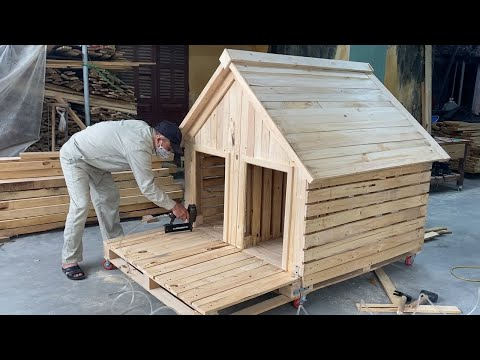 DIY Design Ideas For Woodworking Projects From Pallet Wood - Build A Pet Wooden House From Pallets