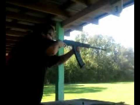 Saiga 12 at honey island shooting range youtube for Honey island shooting range
