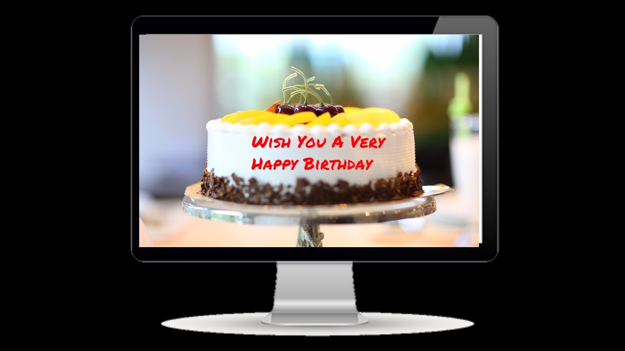 Happy Birthday Greeting Card With Name For Free Spectometer Youtube