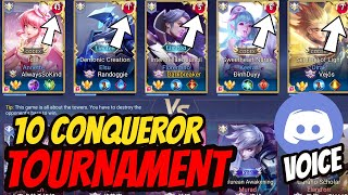 10 SS RANK SERVER BEST TOURNAMENT WITH VOICE VS TIAMO TEAM | AoV | 傳說對決 | RoV | Liên Quân Mobile
