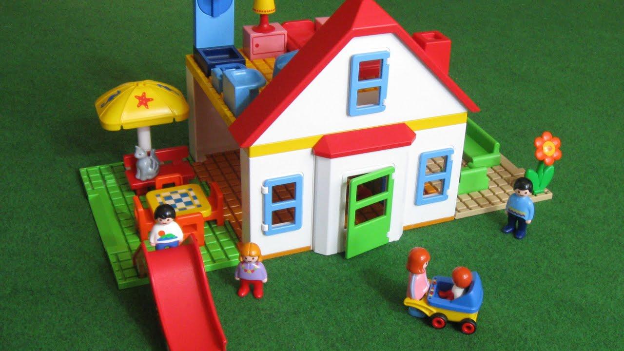 Playmobil family house with a slide 6768 youtube for Casa moderna de playmobil 123