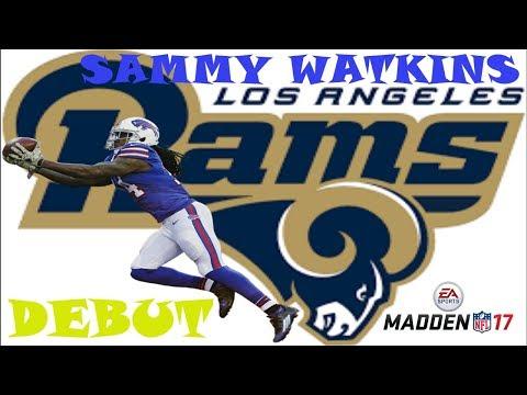 Sammy Watkins Rams Debut vs Seattle Seahawks   Madden 17 Gameplay